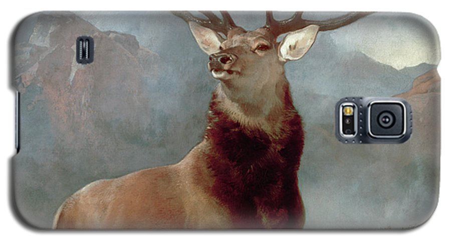 Monarch Galaxy S5 Case featuring the painting Monarch Of The Glen by Sir Edwin Landseer