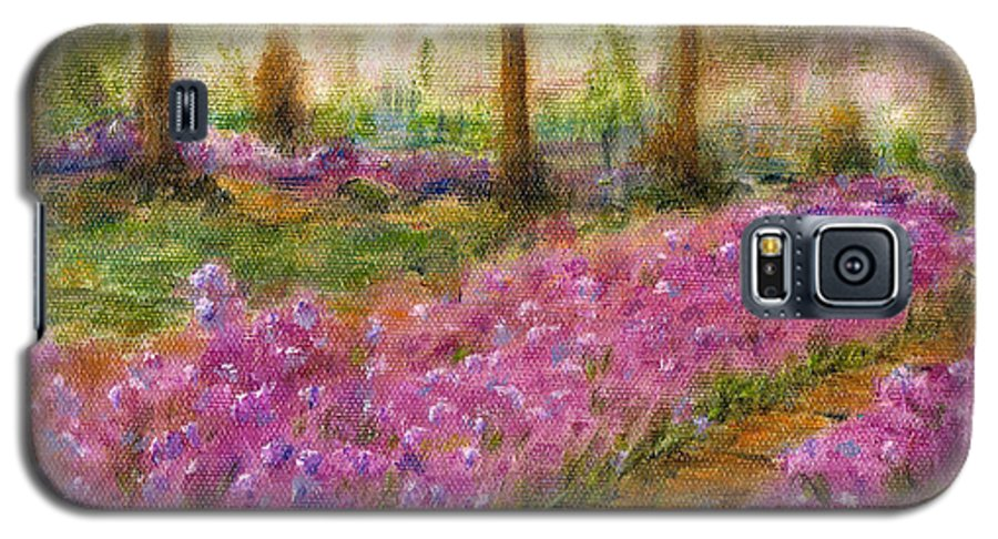 Monet Galaxy S5 Case featuring the painting Monet's Garden In Cannes by Jerome Stumphauzer
