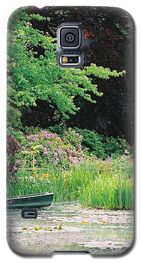 Monet Galaxy S5 Case featuring the photograph Monet's Garden Pond And Boat by Nadine Rippelmeyer