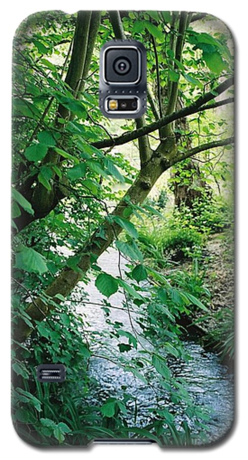 Photography Galaxy S5 Case featuring the photograph Monet's Garden Stream by Nadine Rippelmeyer