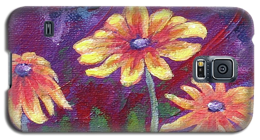 Small Acrylic Painting Galaxy S5 Case featuring the painting Monet's Small Composition by Jennifer McDuffie