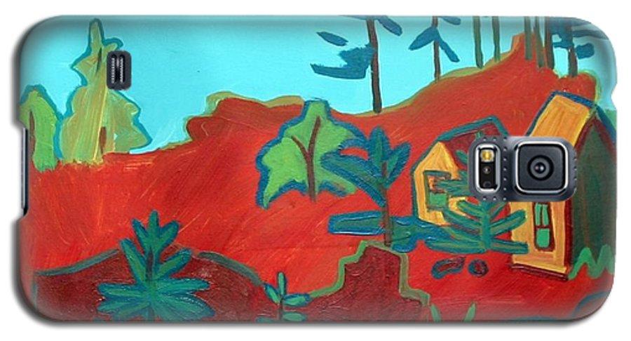 Beach Galaxy S5 Case featuring the painting Monhegan Hue by Debra Bretton Robinson