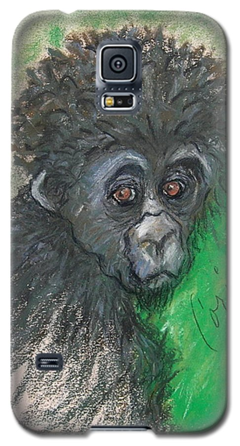 Monkey Galaxy S5 Case featuring the drawing Monkey Business by Cori Solomon