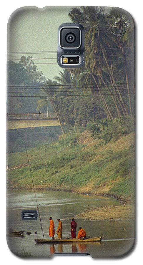 Monks Galaxy S5 Case featuring the photograph Monks - Battambang by Patrick Klauss
