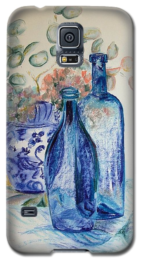 Still Life Galaxy S5 Case featuring the drawing Monnaie Bleue by Muriel Dolemieux