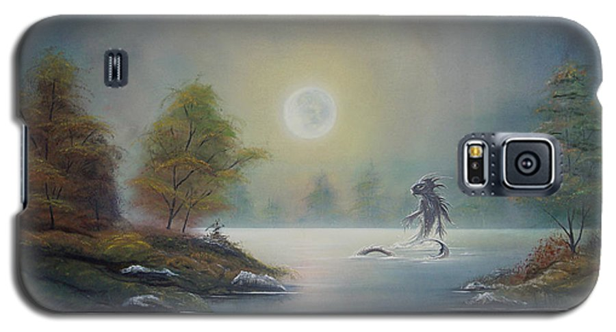 Landscape Galaxy S5 Case featuring the painting Monstruo Ness by Angel Ortiz