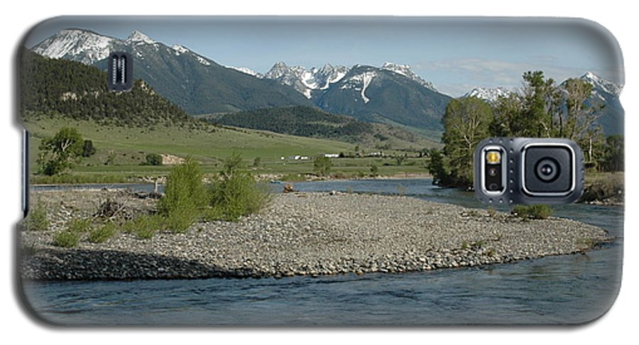 Stream Galaxy S5 Case featuring the photograph Montana Stream by Kathy Schumann
