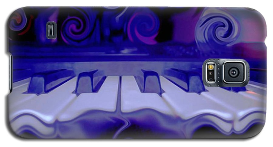 Music Galaxy S5 Case featuring the photograph Moody Blues by Linda Sannuti
