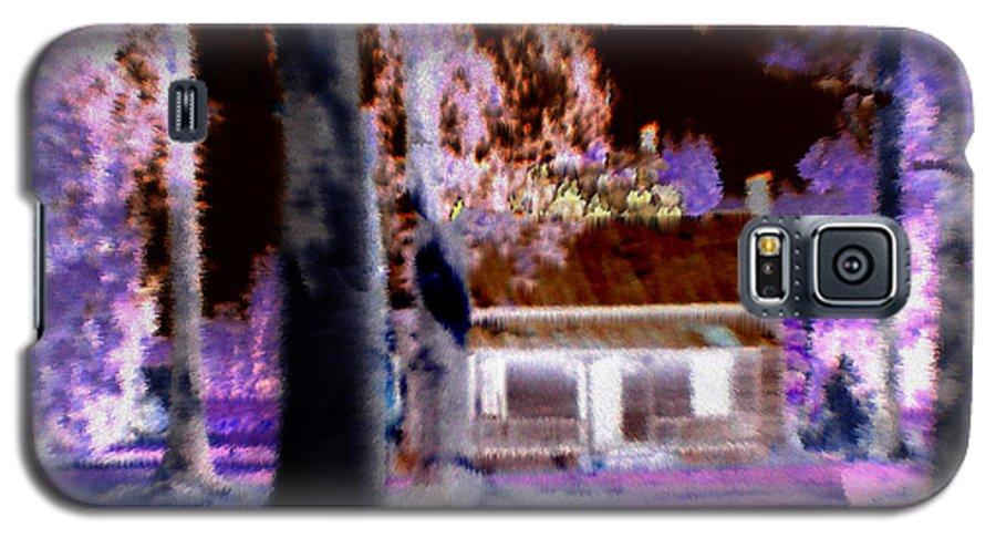 Cabin Galaxy S5 Case featuring the digital art Moonlight Cabin by Seth Weaver