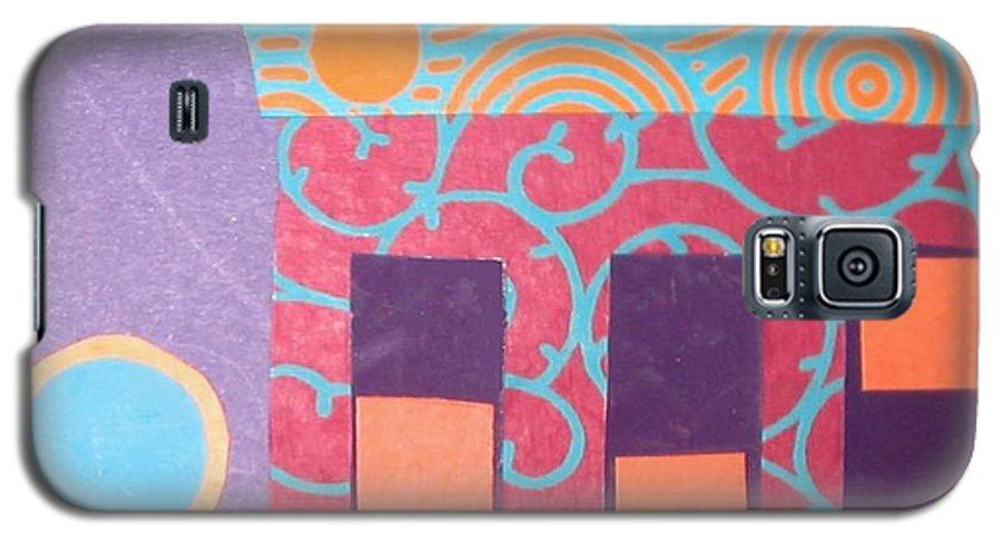Cityscape Galaxy S5 Case featuring the mixed media Moonlight Funk by Debra Bretton Robinson