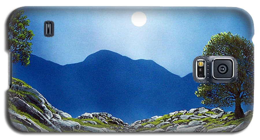 Landscape Galaxy S5 Case featuring the painting Moonrise by Frank Wilson