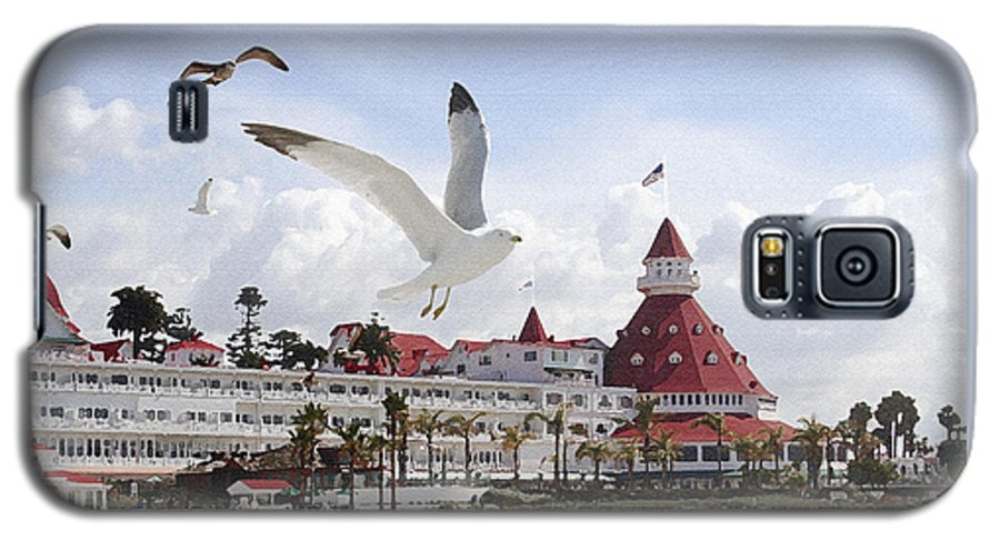 Beach Galaxy S5 Case featuring the photograph Morning Gulls On Coronado by Margie Wildblood