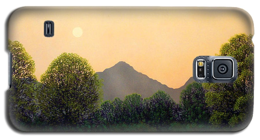 Landscape Galaxy S5 Case featuring the painting Morning Light by Frank Wilson