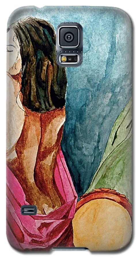 Nudes Women Galaxy S5 Case featuring the painting Morning Light by Herschel Fall