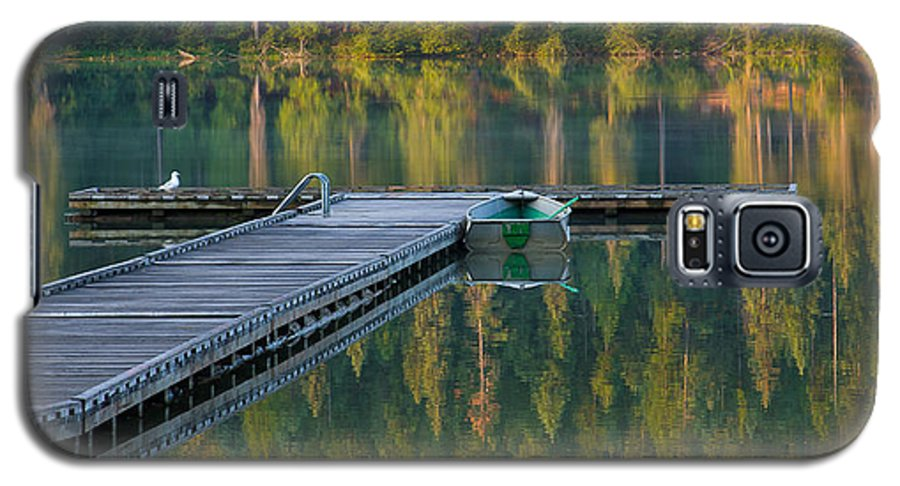 Dock Galaxy S5 Case featuring the photograph Morning Light by Idaho Scenic Images Linda Lantzy