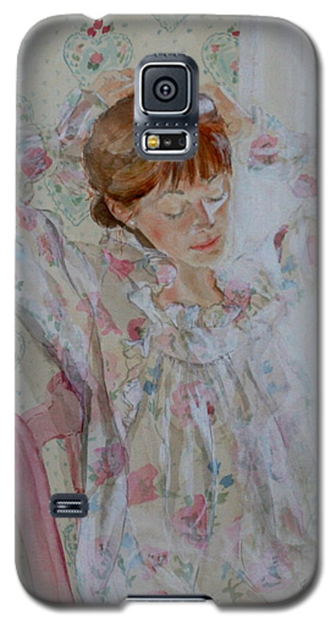 Morning Galaxy S5 Case featuring the painting Morning Ritual by Jean Blackmer