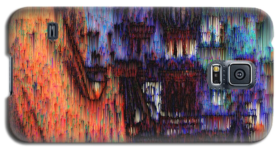 Fog Galaxy S5 Case featuring the digital art Moscow In The Rain by Seth Weaver