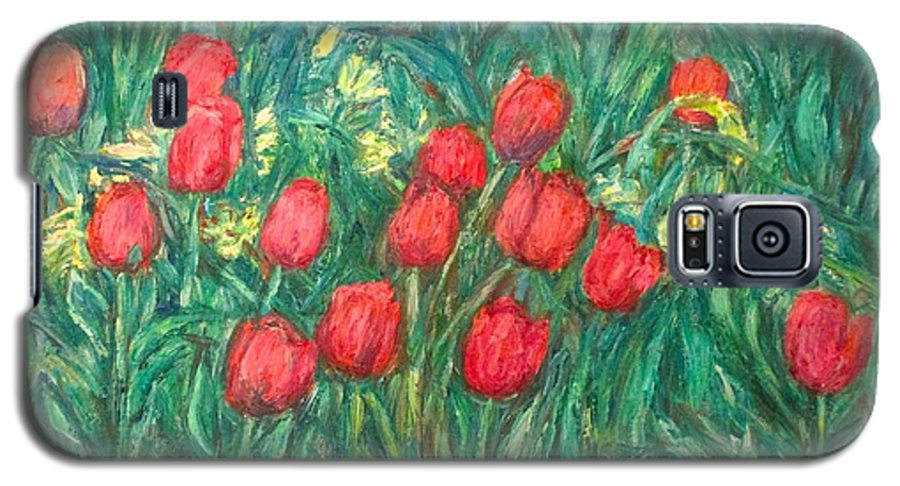 Kendall Kessler Galaxy S5 Case featuring the painting Mostly Tulips by Kendall Kessler