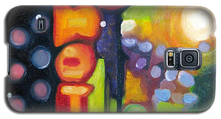 N Galaxy S5 Case featuring the painting Motel Lights by Patricia Arroyo