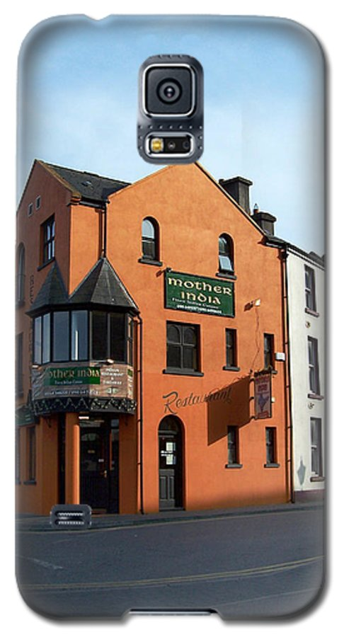 Ireland Galaxy S5 Case featuring the photograph Mother India Restaurant Athlone Ireland by Teresa Mucha