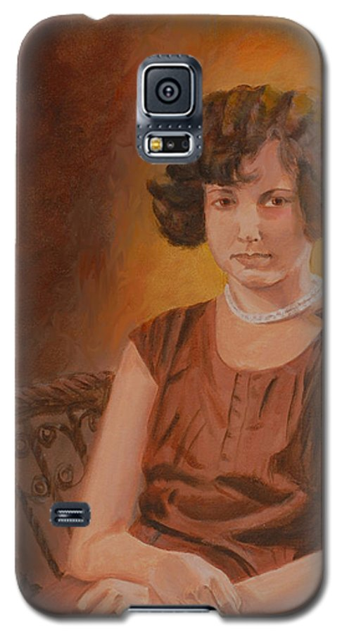 Woman Galaxy S5 Case featuring the painting Mother by Quwatha Valentine