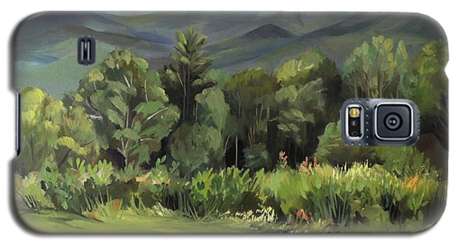 White Mountain Paintngs Galaxy S5 Case featuring the painting Mount Lafayette From Sugar Hill New Hampshire by Nancy Griswold
