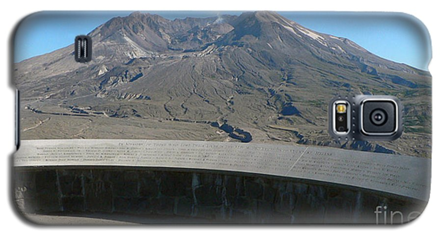 Volcano Galaxy S5 Case featuring the photograph Mount St. Helen Memorial by Larry Keahey