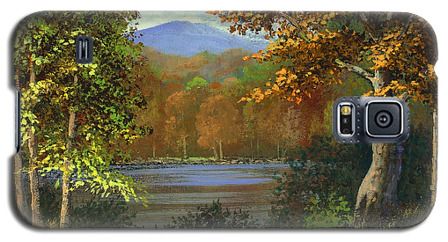 Landscape Galaxy S5 Case featuring the painting Mountain Pond by Frank Wilson