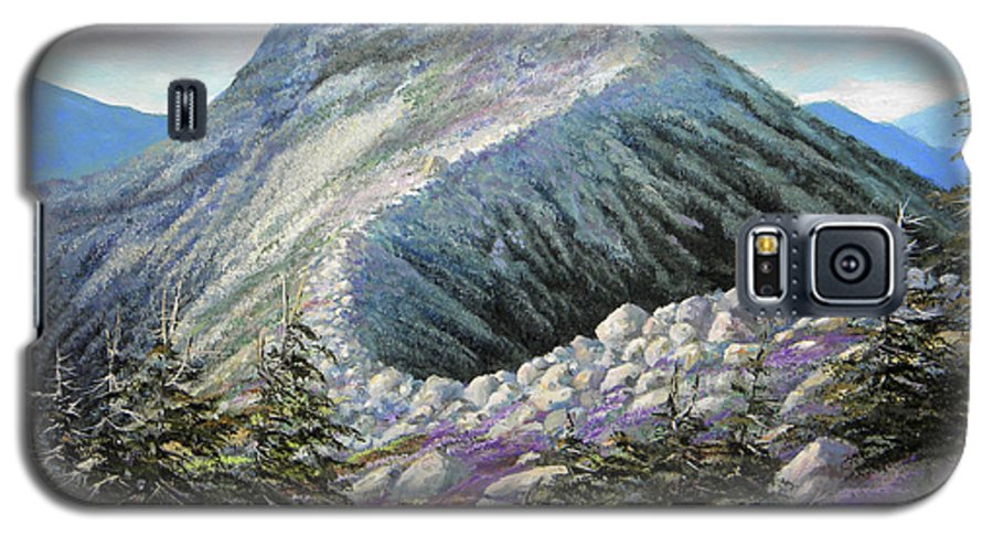 Landscape Galaxy S5 Case featuring the painting Mountain Ridge by Frank Wilson