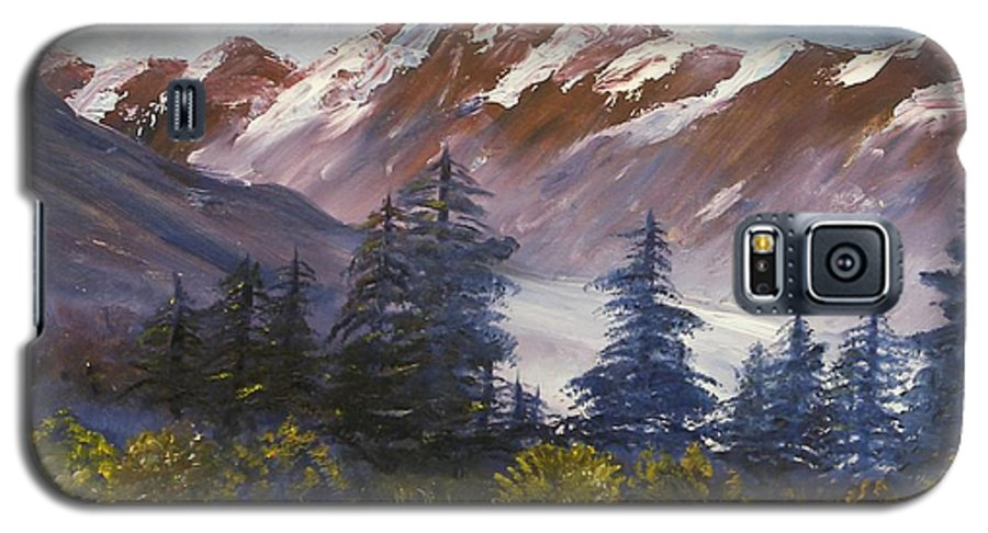 Oil Painting Galaxy S5 Case featuring the painting Mountains I by Lessandra Grimley