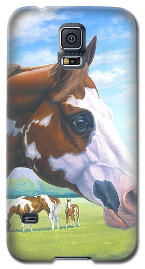 Paint Horse Galaxy S5 Case featuring the painting Mr. Norfleets Legacy by Howard Dubois
