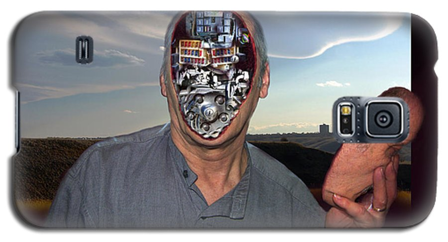 Surrealism Galaxy S5 Case featuring the digital art Mr. Robot-otto by Otto Rapp