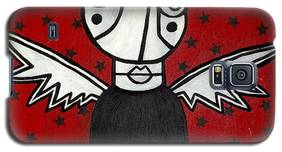 Potrait Galaxy S5 Case featuring the painting Mrs.creepy by Thomas Valentine
