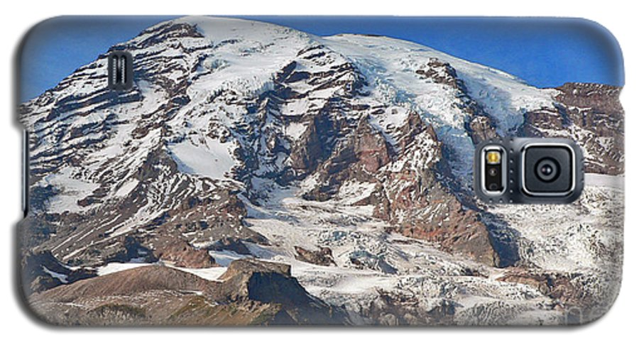 Mountains Galaxy S5 Case featuring the photograph Mt. Rainier In The Fall by Larry Keahey