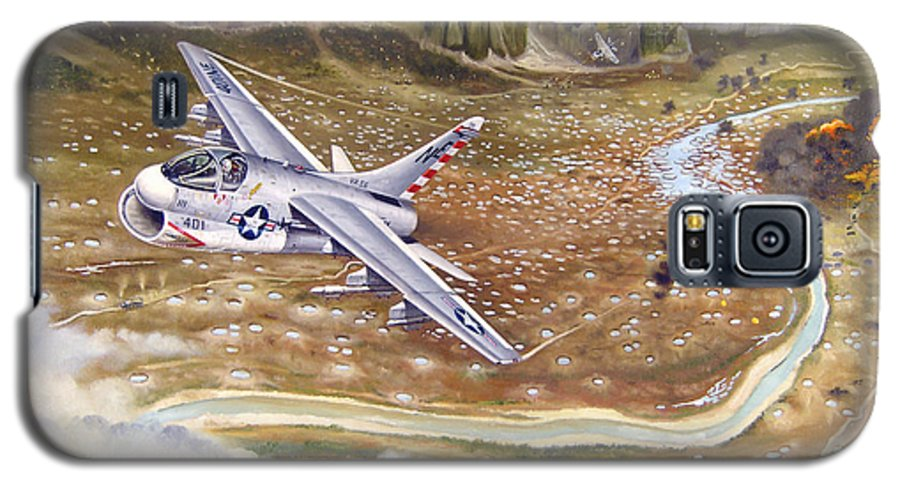 Aviation Galaxy S5 Case featuring the painting Mu Gia Mayhem by Marc Stewart