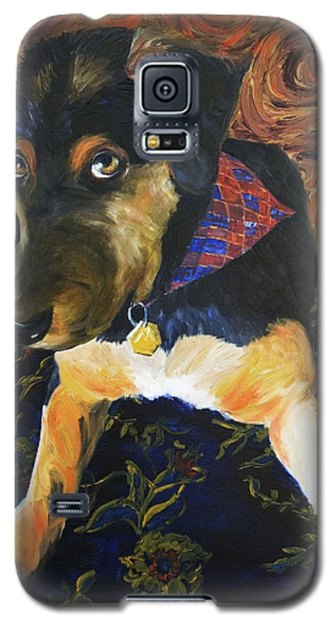 Dog Galaxy S5 Case featuring the painting Murphy I by Nik Helbig