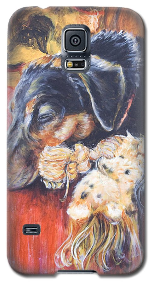 Dog Galaxy S5 Case featuring the painting Murphy Viii by Nik Helbig