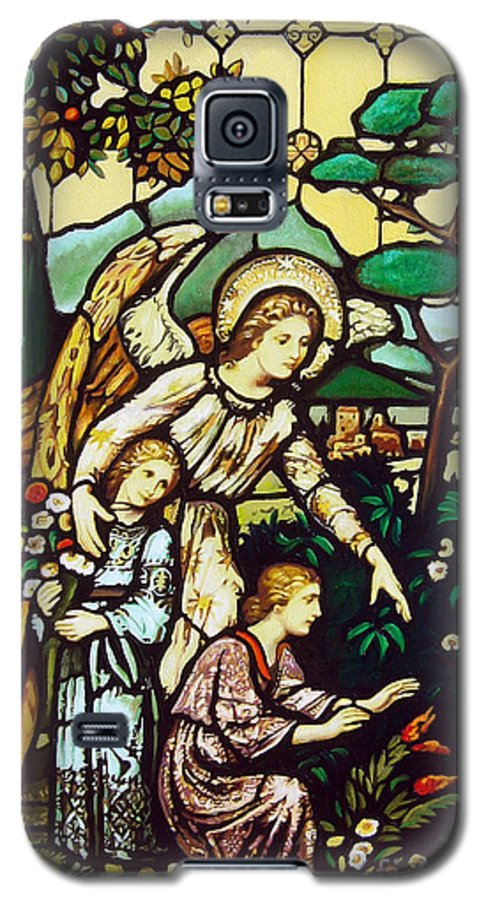 Galaxy S5 Case featuring the painting My Angel by Jose Manuel Abraham