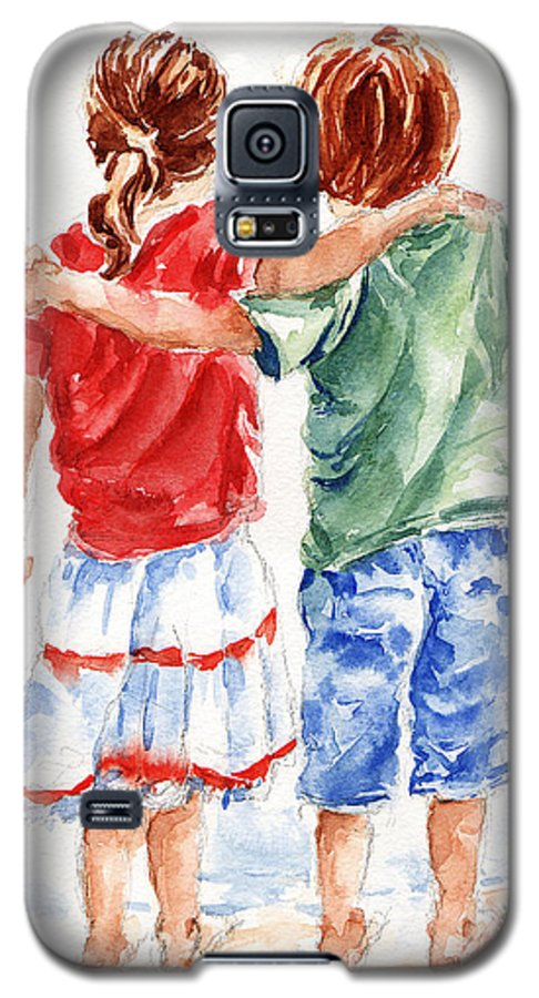 Watercolour Galaxy S5 Case featuring the painting My Friend by Stephie Butler