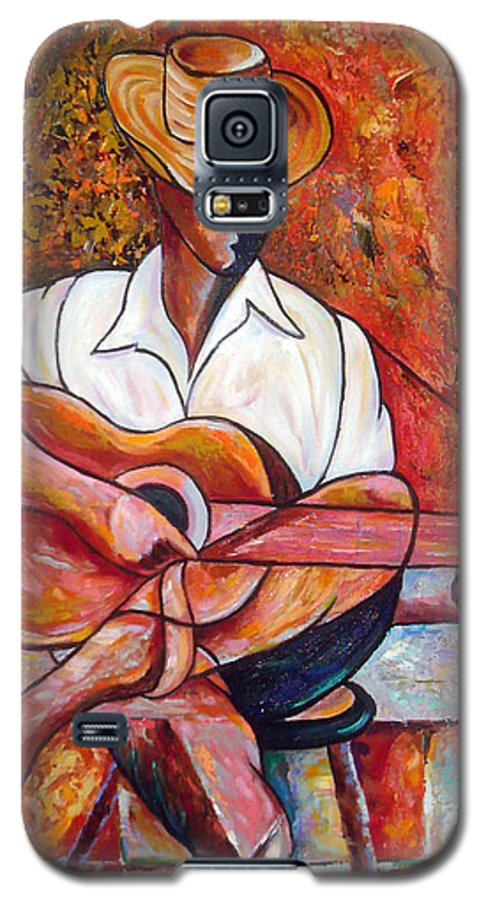 Cuba Art Galaxy S5 Case featuring the painting My Guitar by Jose Manuel Abraham