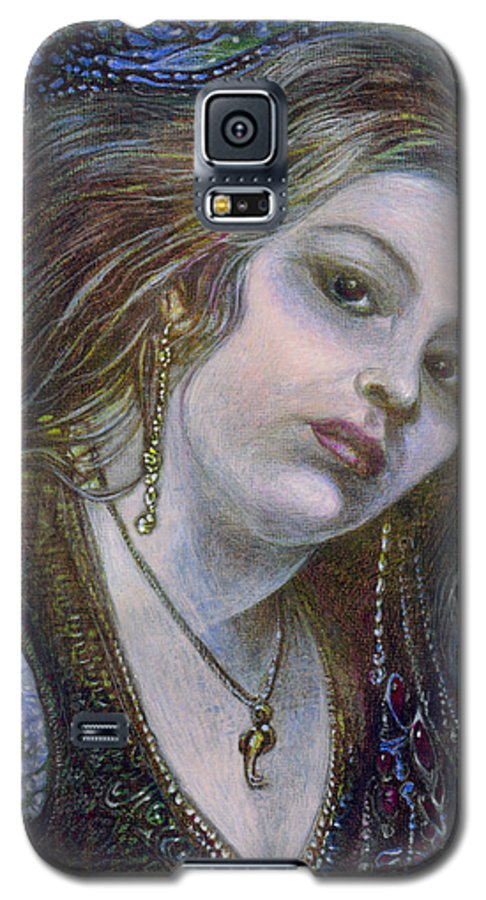 Fantasy Galaxy S5 Case featuring the painting My Mermaid Christan by Otto Rapp