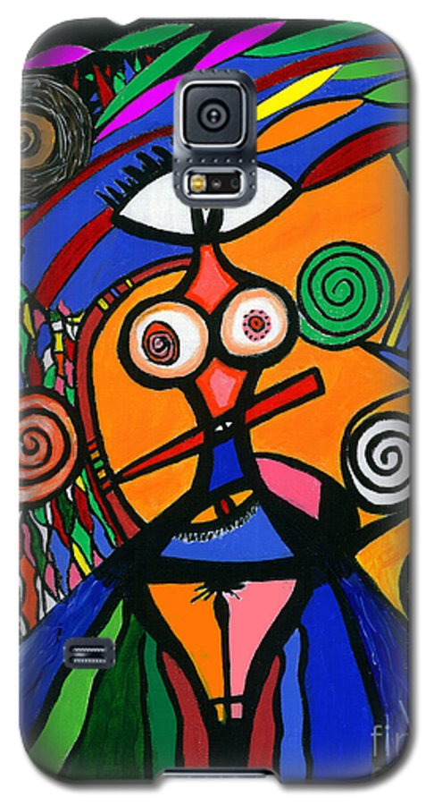 Feelings Galaxy S5 Case featuring the painting My Woman by Safak Tulga