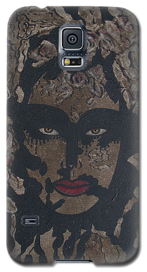 Figurative Galaxy S5 Case featuring the painting Mysterious Desire by Natalie Holland