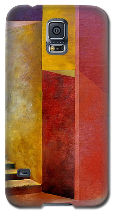 Gold Galaxy S5 Case featuring the painting Mystery Stairway by Michelle Calkins