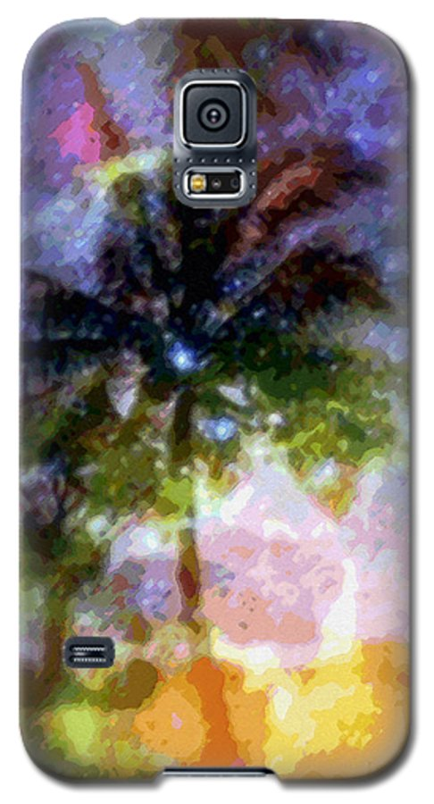 Tropical Interior Design Galaxy S5 Case featuring the photograph Mystic Palm by Kenneth Grzesik