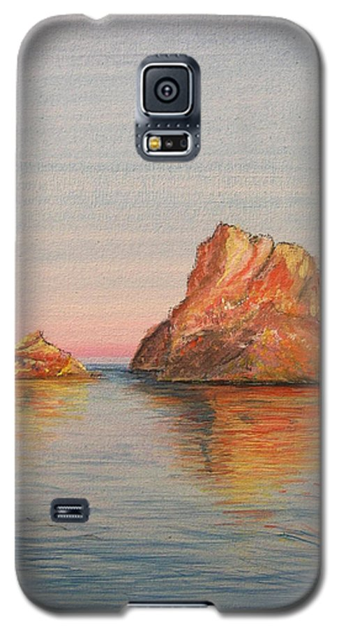 Island Galaxy S5 Case featuring the painting Mystical Island Es Vedra by Lizzy Forrester