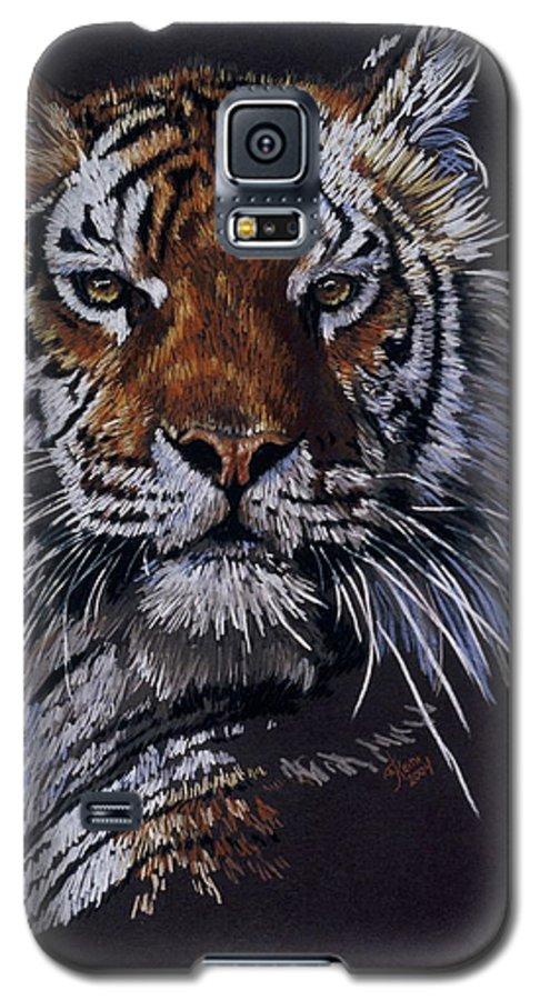 Tiger Galaxy S5 Case featuring the drawing Nakita by Barbara Keith