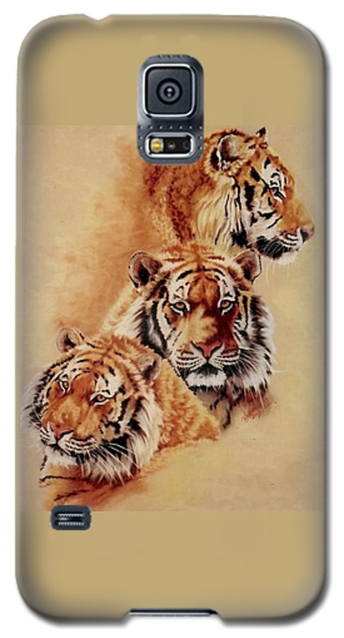Tiger Galaxy S5 Case featuring the pastel Nanook by Barbara Keith