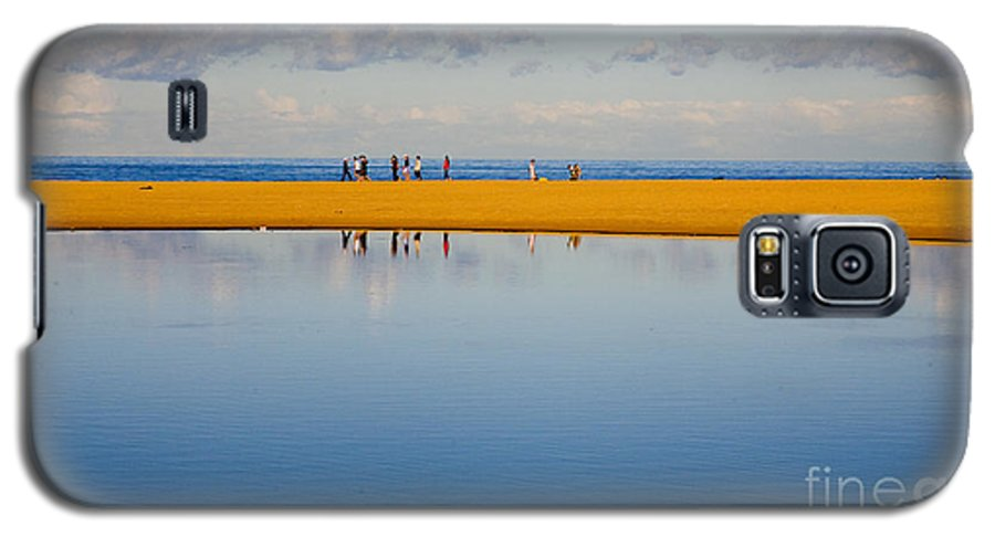 Dunes Lowry Sand Sky Reflection Sun Lifestyle Narrabeen Australia Galaxy S5 Case featuring the photograph Narrabeen Dunes by Sheila Smart Fine Art Photography