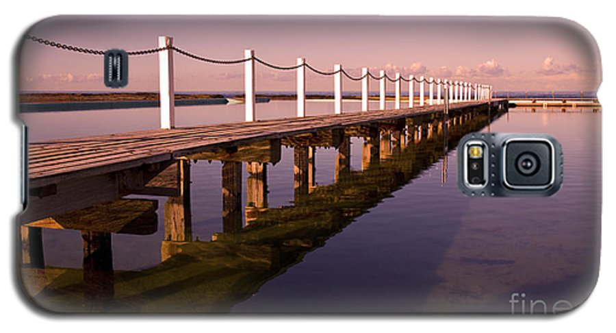 Narrabeen Sydney Sunrise Wharf Walkway Galaxy S5 Case featuring the photograph Narrabeen Sunrise by Avalon Fine Art Photography